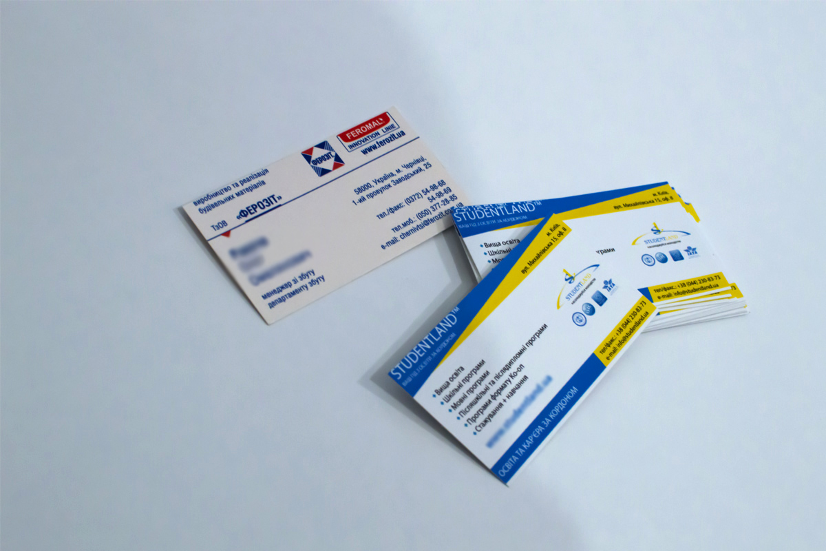 Business card printing of the highest quality at affordable